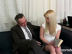 Sultry schoolgirl gets seduced and poked by her elder lecturer