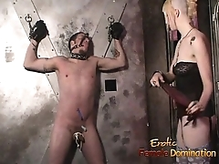 Two pornstars and a uncalculated guy make a porno in the dungeon
