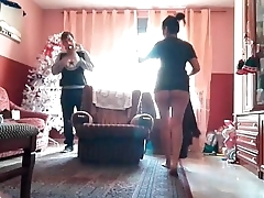 Christmas Nanny brings hot gifts at home