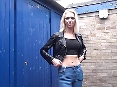Amateur milf Atlantas public flashing and outdoor masturbation of blonde cougar