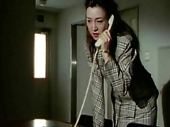 Sexy Japanese woman tied to a chair gets fucked from behind