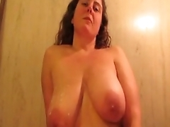 Massive Big-Boobed Amateur BBW Milf Mouth And Tit Fuck