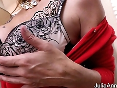 Hot Milf Julia Ann Masturbates in all directions Big Dildo!