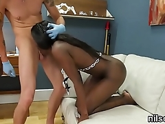 Horny chick is taken in anal madhouse for uninhibited therapy